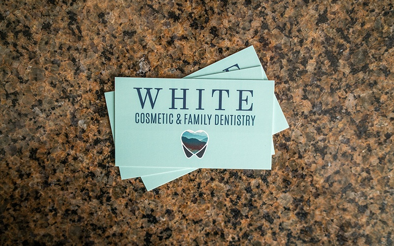 White Cosmetic & Family Dentistry business cards